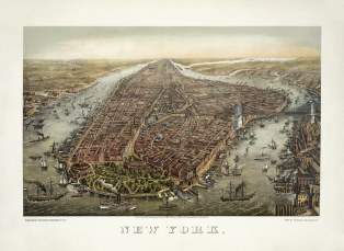 Manhattan, à New-York, en 1873 (de George Schlegel)