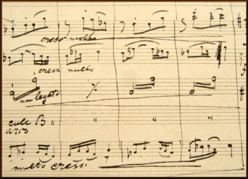 La partition originale de la symphonie du Nouveau Monde, d'Antonin Dvorak (1893)