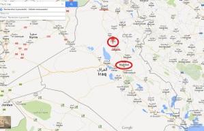 Tikrit, à 150 kilomètres au nord de Baghdad, en Irak (source : Google Map)