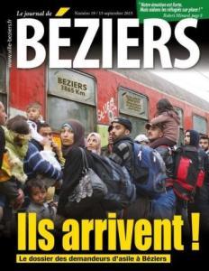 La Une du magazine municipal de Béziers, en septembre 2015.