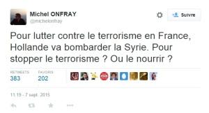 onfray terrorisme
